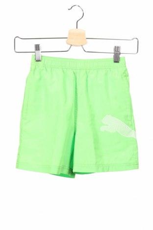 Detské krátke nohavice  PUMA, Veľkosť 7-8y/ 128-134 cm, Farba Zelená, Polyester, Cena  14,47€
