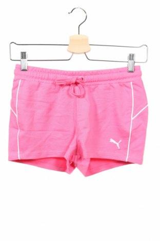 Dětské krátké kalhoty  PUMA, Rozměr 10-11y/ 146-152 cm, Barva Růžová, 88% bavlna, 12% polyester, Cena  407,00Kč