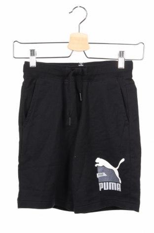 Dětské krátké kalhoty  PUMA, Rozměr 8-9y/ 134-140 cm, Barva Černá, 88% bavlna, 12% polyester, Cena  407,00Kč
