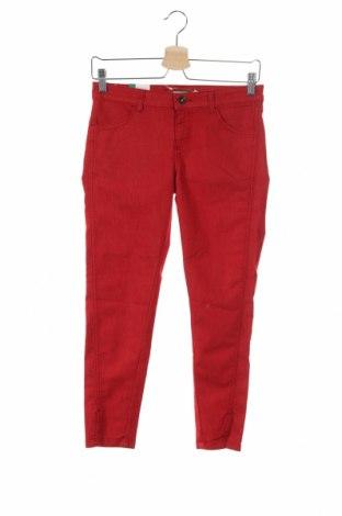 Детски панталон United Colors Of Benetton, Размер 11-12y/ 152-158 см, Цвят Червен, 67% памук, 29% полиестер, 4% еластан, Цена 46,31лв.