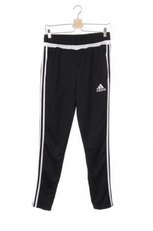 Pantaloni trening de copii Adidas, Mărime 13-14y/ 164-168 cm, Culoare Negru, Poliester, Preț 168,97 Lei