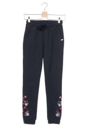 Pantaloni trening de copii Esprit, Mărime 9-10y/ 140-146 cm, Culoare Albastru, 57% bumbac, 43% poliester, Preț 115,00 Lei