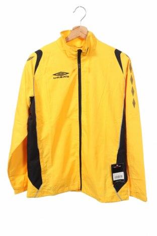 Παιδικό αθλητικό μπουφάν Umbro, Μέγεθος 13-14y/ 164-168 εκ., Χρώμα Κίτρινο, Πολυεστέρας, Τιμή 20,36€