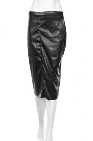 Δερμάτινη φούστα Boohoo, Μέγεθος M, Χρώμα Μαύρο, Δερματίνη, Τιμή 13,73€