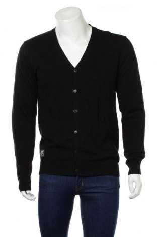 Jachetă tricotată de bărbați Cropp, Mărime M, Culoare Negru, Bumbac, Preț 99,89 Lei