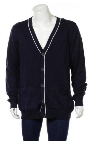 Jachetă tricotată de bărbați Reserved, Mărime XL, Culoare Albastru, Bumbac, Preț 99,89 Lei