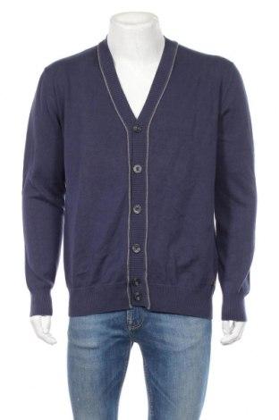 Jachetă tricotată de bărbați Tom Tailor, Mărime L, Culoare Albastru, Bumbac, Preț 106,35 Lei