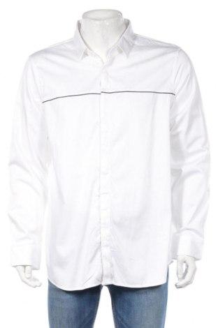 Ανδρικό πουκάμισο Armani Exchange, Μέγεθος XXL, Χρώμα Λευκό, 97% βαμβάκι, 3% ελαστάνη, Τιμή 46,57€