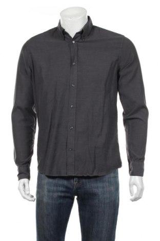Мъжка риза J.Lindeberg, Размер M, Цвят Сив, 97% памук, 3% еластан, Цена 7,35лв.