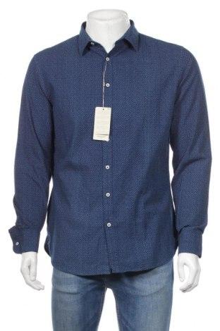 Ανδρικό πουκάμισο Mango, Μέγεθος L, Χρώμα Μπλέ, Βαμβάκι, Τιμή 23,01€