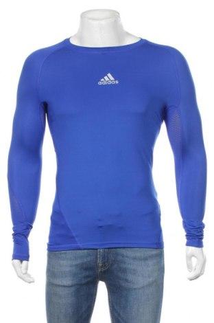 Ανδρική αθλητική μπλούζα Adidas, Μέγεθος S, Χρώμα Μπλέ, 83% πολυεστέρας, 17% ελαστάνη, Τιμή 56,64€