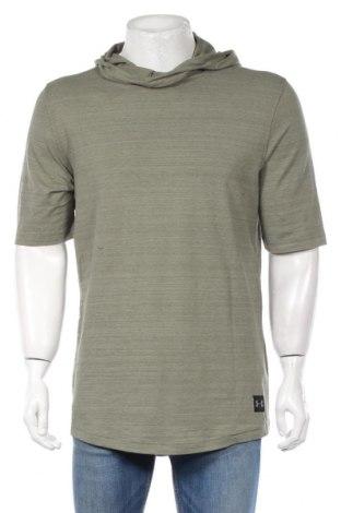 Bluză trening de bărbați Under Armour, Mărime L, Culoare Verde, 75% bumbac, 21% poliester, 4% elastan, Preț 168,63 Lei