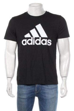 Pánské tričko  Adidas, Rozměr M, Barva Černá, 100% bavlna, Cena  647,00Kč