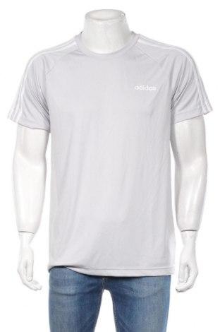 Ανδρικό t-shirt Adidas, Μέγεθος L, Χρώμα Γκρί, Πολυεστέρας, Τιμή 23,01€