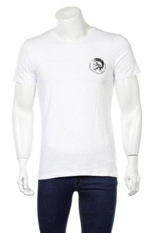 Tricou de bărbați Diesel, Mărime L, Culoare Alb, 95% bumbac, 5% elastan, Preț 149,68 Lei