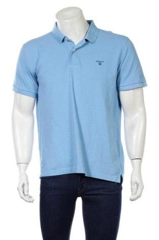 Pánske tričko  Gant, Veľkosť XL, Farba Modrá, Bavlna, Cena  28,95€