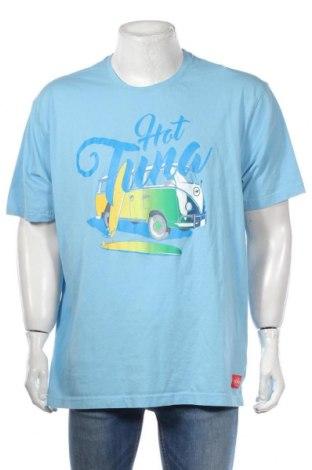 Pánske tričko  Hot Tuna, Veľkosť XXL, Farba Modrá, Bavlna, Cena  10,39€