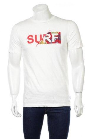 Męski T-shirt Originals By Jack & Jones, Rozmiar S, Kolor ecru, Bawełna, Cena 65,00zł