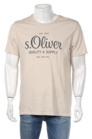 Pánske tričko  S.Oliver, Veľkosť XL, Farba Béžová, Bavlna, Cena  14,47€