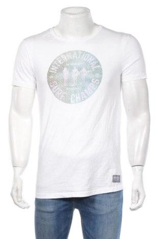 Tricou de bărbați Tom Tailor, Mărime M, Culoare Alb, Bumbac, Preț 73,89 Lei