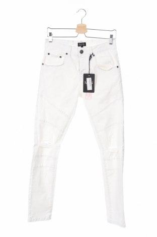 Pánske džínsy  Boohoo, Veľkosť S, Farba Biela, 98% bavlna, 2% elastan, Cena  16,33€