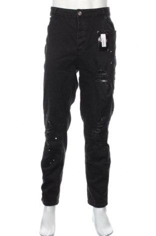 Pánske džínsy  Boohoo, Veľkosť XXL, Farba Čierna, 65% bavlna, 33% polyester, 2% elastan, Cena  17,07€