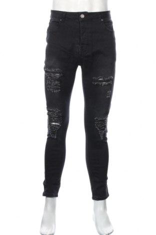 Męskie jeansy Boohoo, Rozmiar XL, Kolor Czarny, 65% bawełna, 33% poliester, 2% elastyna, Cena 64,80zł
