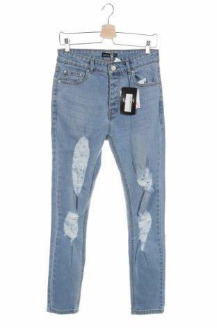 Pánske džínsy  Boohoo, Veľkosť M, Farba Modrá, 98% bavlna, 2% elastan, Cena  14,10€