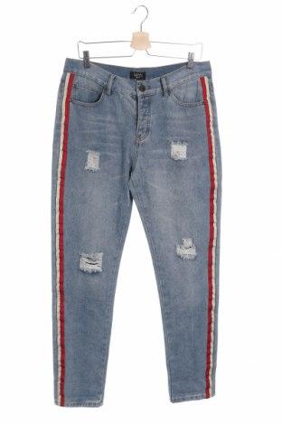 Pánske džínsy  Boohoo, Veľkosť L, Farba Modrá, 70% bavlna, 30% polyester, Cena  17,07€