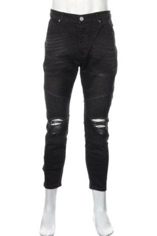 Pánske džínsy  Boohoo, Veľkosť M, Farba Čierna, 70% bavlna, 28% polyester, 2% elastan, Cena  17,07€