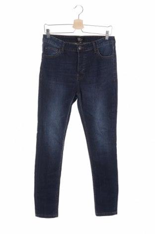 Pánske džínsy  Boohoo, Veľkosť L, Farba Modrá, 82% bavlna, 17% polyester, 1% elastan, Cena  14,10€