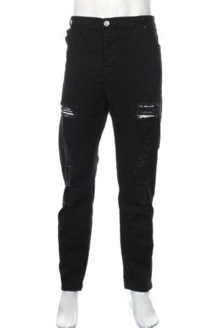Męskie jeansy Boohoo, Rozmiar XL, Kolor Czarny, 65% bawełna, 33% poliester, 2% elastyna, Cena 82,80zł