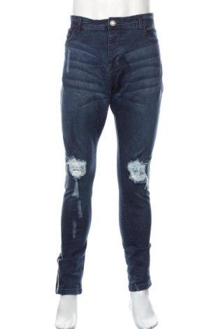 Męskie jeansy Brave Soul, Rozmiar XL, Kolor Niebieski, 98% bawełna, 2% elastyna, Cena 88,20zł