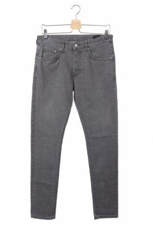 Мъжки дънки H&M, Размер S, Цвят Сив, 80% памук, 19% полиестер, 1% еластан, Цена 26,60лв.