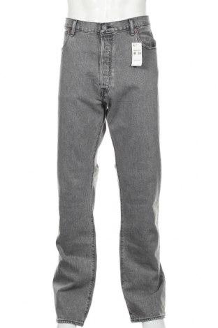 Мъжки дънки Levi's, Размер XL, Цвят Сив, 99% памук, 1% еластан, Цена 101,27лв.