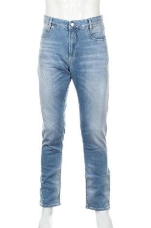 Мъжки дънки Mac, Размер L, Цвят Син, 90% памук, 8% полиестер, 2% еластан, Цена 23,75лв.
