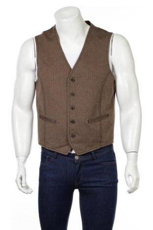Pánska vesta  S.Oliver, Veľkosť L, Farba Hnedá, 88% bavlna, 11% vlna, 1% polyester, Cena  13,34€