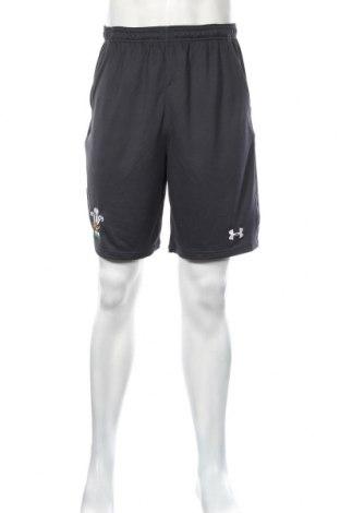 Pantaloni scurți de bărbați Under Armour, Mărime M, Culoare Gri, Poliester, Preț 116,45 Lei