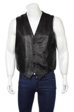 Pánska kožená vesta , Veľkosť L, Farba Čierna, Pravá koža , Cena  22,79€