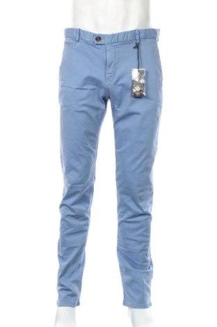 Ανδρικό παντελόνι H.E. By Mango, Μέγεθος XL, Χρώμα Μπλέ, 98% βαμβάκι, 2% ελαστάνη, Τιμή 23,75€