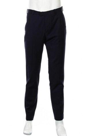 Ανδρικό παντελόνι H&M, Μέγεθος L, Χρώμα Μπλέ, 65% πολυεστέρας, 28% βισκόζη, 7% μαλλί, Τιμή 17,28€