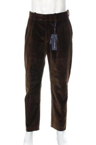 Pantaloni de bărbați Mango, Mărime L, Culoare Maro, 99% bumbac, 1% elastan, Preț 116,45 Lei
