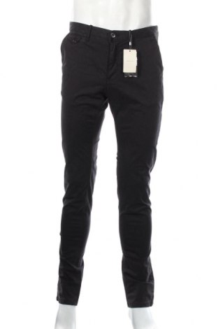 Мъжки панталон Mango, Размер M, Цвят Черен, 96% памук, 4% еластан, Цена 51,75лв.