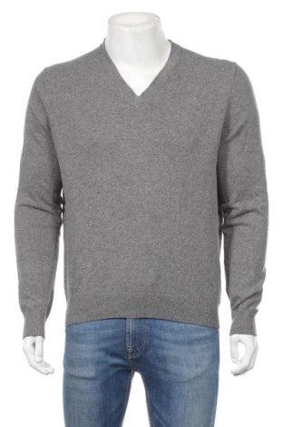 Мъжки пуловер Michael Kors, Размер L, Цвят Сив, 25% памук, 25% полиамид, 25% вискоза, 20% вълна, 5% кашмир, Цена 121,72лв.
