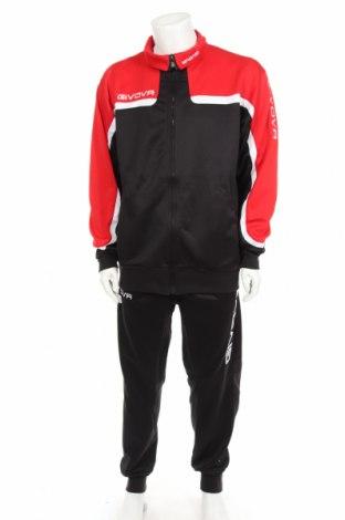 Ανδρικό αθλητικό σετ Givova, Μέγεθος XL, Χρώμα Μαύρο, 85% πολυεστέρας, 15% βαμβάκι, Τιμή 23,55€