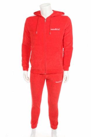 Pánský sportovní komplet  Boohoo, Rozměr M, Barva Červená, 80% bavlna, 20% polyester, Cena  647,00Kč