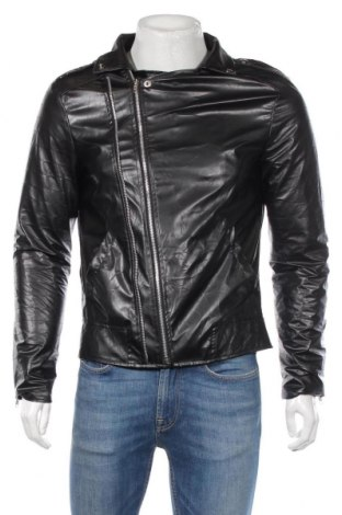 Pánská kožená bunda , Rozměr M, Barva Černá, Eko kůže, Cena  547,00Kč