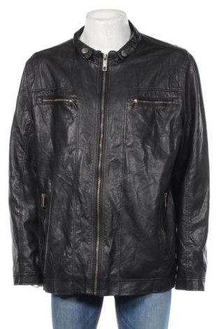 Pánská kožená bunda  Angelo Litrico, Rozměr XXL, Barva Černá, Eko kůže, Cena  485,00Kč