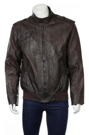 Pánská kožená bunda  Charles Vogele, Rozměr L, Barva Hnědá, Eko kůže, Cena  594,00Kč