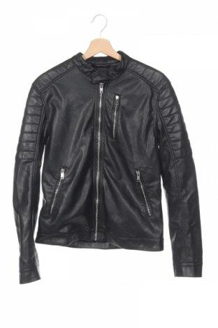 Pánská kožená bunda  H&M, Rozměr S, Barva Černá, Eko kůže, Cena  718,00Kč